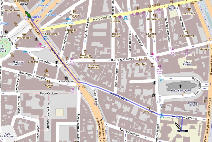 Centre Ville Toulouse Plan  Ef Bf Bd Voir